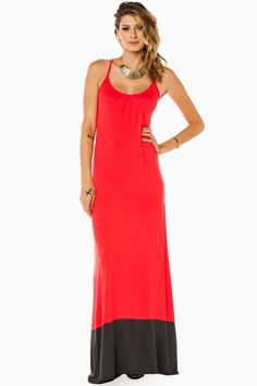 ShopSosie Style : Perry Ann Maxi Dress in Coral