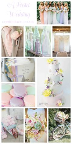 Pastel Wedding Colour Scheme | Mood Board http://confettiave.co.uk/pastel-wedding