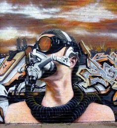 ARTIST。 ROCKET01  •Gaz Mask•. Birmingham...UK