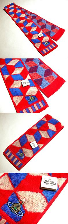 Gym Towels 179801: Vivienne Westwood Long Towel Sports Cotton Orb Red Blue Auth New Rare Licensed -> BUY IT NOW ONLY: $32.0 on eBay!