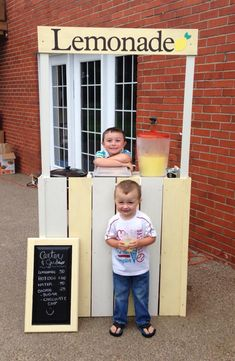 Changing Table Repurposed into Lemonade Stand