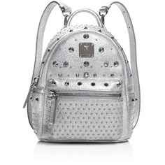 Mcm Extra Mini Special Stark Backpack ($1,515) ❤ liked on Polyvore featuring bags, backpacks, backpack, mcm, studded crossbody, mcm backpack, crossbody bags, mini crossbody and mcm bags