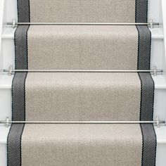 Higherground supply and fit your Roger Oates Hanover Oatmeal carpet stair runner throughout Surrey, Sussex and London - Call us today Basement Carpet, Hallway Carpet, Carpet Stairs, Cost Of Carpet, New Carpet, Rugs On Carpet, Black Runners, Sisal Carpet, Carpet Shops