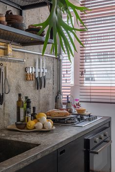 Kitchen with Barbecue: Projects and Photos - Home Fashion Trend Kitchen Nook, Kitchen Tiles, Home Decor Kitchen, Home Kitchens, Kitchen Dining, Industrial Kitchen Design, Industrial House, Bungalow House Design, Kitchen Collection