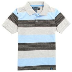 Classic stripes and a soft collar make this cotton-blend polo easy for your little guy to dress up or down. Boys Summer Outfits, Summer Boy, Polo Outfit, Boutique Clothing, Toddler Boys, Blue Stripes, Mens Tops, Shirts, Shopping