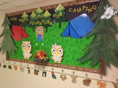 camping classroom bulletin | 2013-2014 Bulletin Board, Look Who's Joining Our Camping Adventure!
