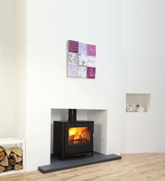 Shop a huge range of stove for sale at Direct Stoves. Fantastic prices on multi fuel stoves, electric stoves, log burners & more. Gas Stove Fireplace, Wood Burner Stove, Cottage Fireplace, Open Fireplace, Fireplace Wall, Fireplace Ideas, Log Burner Living Room, Home Living Room, Hearths