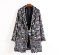 Euro Style Autumn Winter Tweed Blazer