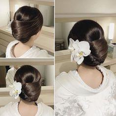 WEBSTA @misaco_1130 * *************************** Japanese beauty style *************************** * * Hair Up Styles, Updo Styles, Medium Hair Styles, Bun Hairstyles, Wedding Hairstyles, Korean Hairstyles, Geisha Hair, Japanese Wedding, Bridal Hair Updo