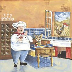 Gregory Gorham Solid-Faced Canvas Print Wall Art Print entitled Chef I