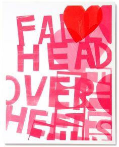 Artist portfolio prints spring series by Kate Spade. I am especially in love with the typography + heart in pink and red print shown here. so cute and love Rosa Pink, Artist Portfolio, Branding, Print Artist, Art Print, Kate Spade Pink, Pink Flamingos, Happy Valentines Day, Pretty In Pink