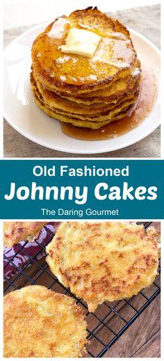Traditional Johnny Cakes Johnny Cakes Recipe, Breakfast Dishes, Breakfast Ideas, Free Breakfast, Breakfast Recipes, Breakfast Specials, Pancakes And Waffles, Pastry Cake, Great Recipes