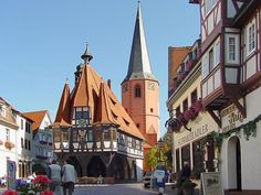 Michelstadt im Odenwald, Deutschlands bekanntestes Rathaus