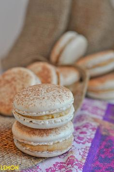 Tiramisu Macarons - When you bite into a Macaron, the shell of the cookie is light and crisp, but then you hit the center of the cookie, which is soft and slightly creamy. The burst of flavor from the filling will pretty much ensure that your first bite won't be your last.