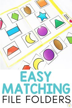 Need ideas to work on basic concepts for your toddler, preschooler, or special education / speech therapy student? These basic skill file folders are great for kids who need something they can do on their own at their independent work station. They work on pre-academic foundational learning skills such as matching, letters, numbers, colors, shapes, categories, and sorting and can help teachers make learning fun! 8 FREE printable errorless folders! #independentactivities #teacherfreebie