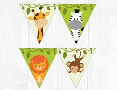 Safari Banner Safari Birthday Decoration Safari Party | Etsy Spa Birthday Parties, Spa Party, Birthday Party Decorations, Party Themes, Jungle Party, Safari Party, Jungle Decorations, Lion King Party, Love Posters