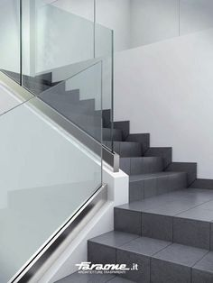 Glass railing / aluminium / indoor - NINFA LED by Nino Faraone - FARAONE Srl