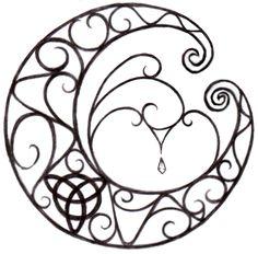 celtic moon | Wiccan Moon Tattoo Design by ~NatzS101 on deviantART