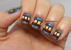 The Polar Express inspired nails