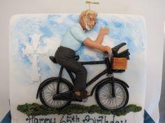Man On Bike Sugarpaste model