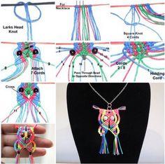 Macrame+Owl+Necklace