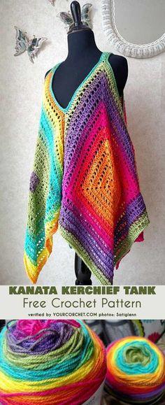 [Easy] Kanata Sleeveless Top - Free Crochet Pattern #freecrochetpattern #crochettop #summerstyle