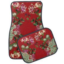 Honeysuckle Floral Flowers Floor Mats