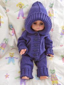 Jatan tapaan : Neulottu vauvan haalari Baby Born, Knitting For Kids, Crochet Hats, Dolls, Sewing, Diy, Crafts, Knitting Hats, Baby Dolls