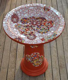 Mosaic Birdbath | Flickr - Photo Sharing!: