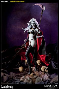 Sideshow Collectibles - Lady Death Premium Format Figure (coming soon to my collection)! Mike Deodato Jr, Dc Comics, Comic Art, Comic Books, Dc Anime, Anime Art, Lady, Cosplay, Sideshow Collectibles