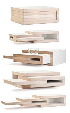 Table/Emboitement/Bois/Encastrement/Multiplie/Prolonge