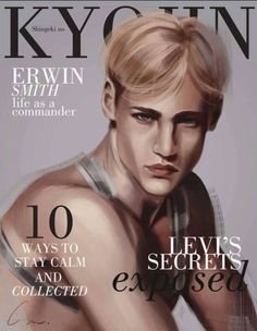 Attack on Titan characters as cover celebs