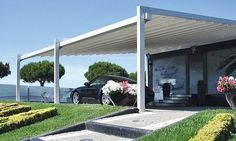 auvent de terrasse aluminium pour protéger mieux votre voiture