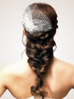 Bride Hairstyle with Low Ponytail