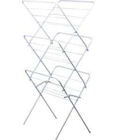 ColourMatch 15m 3 Tier Indoor Clothes Airer - Super White.