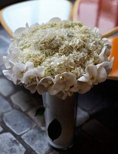Tout BlancCréation de Baptiste Pitou, des hortensias blancs avec des belles…