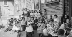 At a kindergarten in Helsinki, Finland, ca. 1890