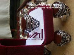 خواتم رجالي كلاسيك 10 عقيق يمني احمر كبدي دم الغزال قص كبشن عادي درجة اولى Onyx Agate Gemstone Jewelry Gemstones Class Ring