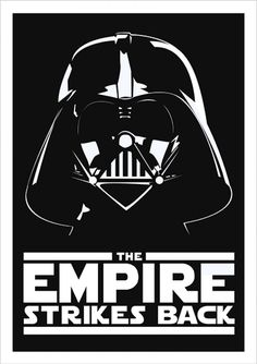 The Empire Strikes Back - Star Wars - Ficção/Fantasia - Filmes | Posters Minimalistas