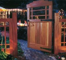 DIY Landscaping & Garden, Woodworking Plans & Projects - Craftsman Garden Gate Project Plan