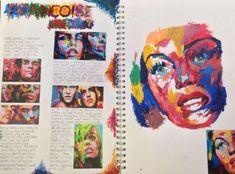 - A Level Art Sketchbook -Sketch Book - A Level Art Sketchbook - Artist Research Page, Francoise Nielly Kunst Inspo, Art Inspo, Arte Gcse, Identity Artists, Kunst Portfolio, Pop Art, Gcse Art Sketchbook, A Level Art Sketchbook Layout, Art Diary