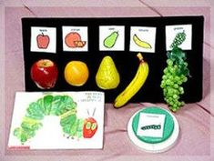 Hungry Caterpillar is a multi-generational favorite! Kids with low vision, or young kids can benefit from the pictures and the story sequence. There are may ways you can use story boards as your reader grows.