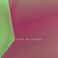 ENJOY THE SILENCE is a private work which is made with Adobe Illustrator  Song Title is from Depeche Mode