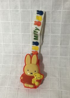 Vintage 1986 Miffy Stroller Hook Baby items Car items Dick Bruna by GoodHappyDay on Etsy https://www.etsy.com/listing/464632835/vintage-1986-miffy-stroller-hook-baby