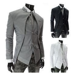 Men's 2014 Futuristic Jacket - there's some great Victorian era tailcoat vibes going on with these angular cuts.: