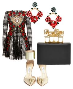 """""""Red carpet"""" by taggedbykimmie15 on Polyvore featuring Dolce&Gabbana, Jimmy Choo and Alexander McQueen"""