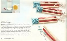 flag candy treat bags