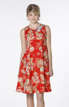 Trouble Melts Dress in Red