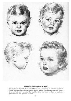 89 LAMINA 57. Otros estudios de bebés No olvidéis que el puente de la nariz debe ser bajo y cóncavo y las ventanas espacia...