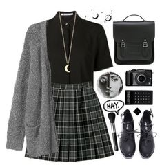 Would you like to add a little edgy style to your wardrobe? Discover 15 items an. - Would you like to add a little edgy style to your wardrobe? Discover 15 items and more than 100 com - Edgy Outfits, Teen Fashion Outfits, Cute Casual Outfits, Fashion 2017, Fashion Ideas, Emo Fashion, Skirt Outfits, Dress Fashion, Gothic Fashion